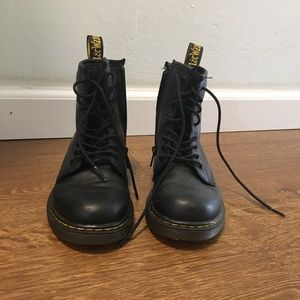 Junior 1460 Softy T Leather Lace Up Boots